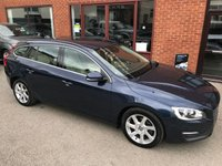 USED 2015 15 VOLVO V60 2.0 D4 SE 5d AUTO 178 BHP Only £20 a year road tax   : Bluetooth   :   DAB Radio   :   Full leather upholstery   :   Electric/memory driver's seat   :   Rear parking sensors    :   Fully stamped Volvo main dealer service history