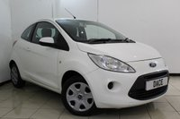 USED 2013 13 FORD KA 1.2 EDGE 3DR 69 BHP AIR CONDITIONING + RADIO/CD + ELECTRIC WINDOWS + AUXILIARY PORT