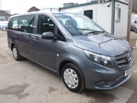 USED 2017 17 MERCEDES-BENZ VITO 114 BLUETEC TOURER PRO 9 SEATER TRAVELINER, LWB, 136 BHP [EURO 6], LOW MILES, AIR CON