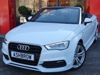 2015 AUDI A3 CABRIOLET 1.6 TDI S LINE 2d 110 S/S £15243.00