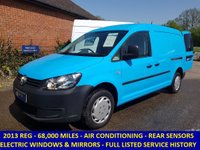 2013 VOLKSWAGEN CADDY MAXI WITH AIR-CON & ELECTRIC PACK DIRECT FROM BRITISH GAS  £5995.00