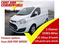 2016 FORD TRANSIT CUSTOM 270 L1 SWB Limited 125ps £13600.00