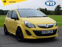 USED 2014 14 VAUXHALL CORSA 1.2 LIMITED EDITION CDTI ECOFLEX 5d 73 BHP A very attractive yellow 2014 Vx Corsa 1.2cdti LIMITED EDITION with black gloss alloy wheels, black door mirrors and a black roof. Cheap to tax and insure makes this an ideal first car, plus it's very economical!