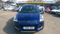 USED 2015 15 FORD KUGA 1.5 TITANIUM X 4X4 5 DOOR AUTOMATIC 180 BHP IN METALLIC BLUE WITH 41000 MILES APPROVED CARS ARE PLEASED TO OFFER THIS FORD KUGA 1.5 TITANIUM X 4X4 5 DOOR AUTOMATIC 180 BHP IN METALLIC BLUE WITH  A FANTASTIC SPEC INCLUDING 2 Keys +, (Full) Leather , ABS, Active Parking Assist, Alarm, Alloy wheels, Bluetooth, CD player, Central locking, Climate control, Cruise control, Electric seats, Electric Sunroof, Electric windows, Headlights - washers, Heated seats, Metallic paint, Parking Sensors (front), Parking Sensors (rear), Power steering, Panoramic roof, Rain sensing wipers, Sa