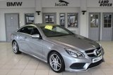 USED 2015 64 MERCEDES-BENZ E CLASS 3.0 E350 BLUETEC AMG LINE 2d AUTO 255 BHP MERCEDES BENZ SERVICE HISTORY + FULL LEATHER SEATS + COMAND SAT NAV + BLUETOOTH + 18 INCH ALLOYS + DAB RADIO + HEATED FRONT SEATS + PARKING SENSORS + LED DAY LIGHT RUNNING LIGHTS