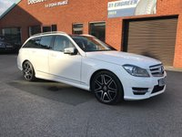 USED 2012 62 MERCEDES-BENZ C CLASS 2.1 C250 CDI BLUEEFFICIENCY AMG SPORT PLUS 5d AUTO 202 BHP Twin electric sunroof : Bluetooth : Satellite Navigation : Part leather upholstery : Electrically adjustable driver + passenger seats : Paddleshift controls : Remotely operated tailgate : Front + rear parking sensors : Comprehensive service history