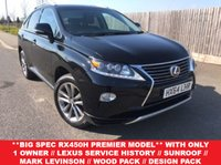 USED 2014 64 LEXUS RX 3.5 450H PREMIER 5d AUTO 295 BHP VELVET BLACK WITH SADDLE TAN LEATHER TRIM..TILT/SLIDE SUNROOF..MARK LEVINSON SOUND SYS..HEATED & VENTILATED SEATS..