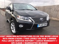 USED 2015 65 LEXUS RX 3.5 450H SE 5d AUTO 295 BHP 1 OWNER WITH FULL LEXUS SERVICE HISTORY + LEXUS WARRANTY TILL SEPTEMBER 2018 + HPI CLEAR & WARRANTED MILEAGE