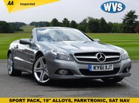 """USED 2011 61 MERCEDES-BENZ SL 3.5 SL350 2d AUTO 315 BHP We are delighted to offer for sale this stunning 2011 Mercedes SL 350 auto in Palladium silver metallic with factory SPORTS PACK (19"""" alloys, sports air filter, black roof lining and black leather with silver top stitching), & PARKTRONIC (audio and visual parking aid). Supplied with 2 keys and records for 4 services."""