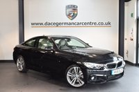 USED 2016 16 BMW 4 SERIES 3.0 435D XDRIVE M SPORT 2DR AUTO 309 BHP + FULL STONE LEATHER INTERIOR + FULL SERVICE HISTORY + PRO SATELLITE NAVIGATION + HEATED SPORT SEATS WITH MEMORY + XENON LIGHTS + BLUETOOTH + DAB RADIO + CRUISE CONTROL + AUTO AIR CONDITIONING + RAIN SENSORS + PARKING SENSORS + 19 INCH ALLOY WHEELS +