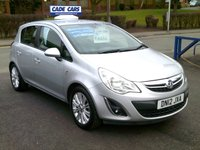 USED 2012 12 VAUXHALL CORSA 1.2 SE 5d 83 BHP FINANCE AVAILABLE EVEN IF YOU HAVE POOR CREDIT.