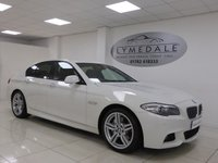 USED 2010 60 BMW 5 SERIES 3.0 525D M SPORT 4d AUTO 202 BHP STUNNING - WHAT A CAR, BMW PRO SAT NAV, DAKOTA LEATHER