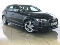 USED 2013 63 AUDI A3 1.6 TDI S LINE 5d 104 BHP 1 Owner/Sat Nav/Leather