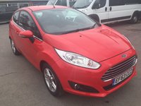 2014 FORD FIESTA 1.2 ZETEC 3 DOOR 81 BHP IN BRIGHT RED WITH ONLY 17000 MILES £6690.00