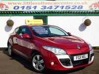 USED 2011 11 RENAULT MEGANE 1.5 DYNAMIQUE TOMTOM DCI ECO 3d 110 BHP DIESEL, TOM TOM SAT NAV, 2 OWNERS FROM NEW