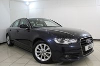 USED 2012 62 AUDI A6 2.0 TDI SE 4DR 175 BHP FULL AUDI SERVICE HISTORY + HEATED LEATHER SEATS + SAT NAVIGATION + BLUETOOTH + CRUISE CONTROL + MULTI FUNCTION WHEEL + CLIMATE CONTROL + 17 INCH ALLOY WHEELS