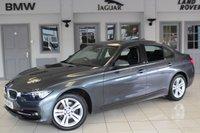 USED 2016 16 BMW 3 SERIES 1.5 318I SPORT 4d 135 BHP FULL BLACK LEATHER SEATS + SAT NAV + BLUETOOTH + CRUISE CONTROL + REAR PARKING SENSORS + DAB RADIO + 17 INCH ALLOYS + RAIN SENSORS