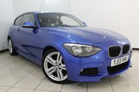 USED 2013 13 BMW 1 SERIES 2.0 118D M SPORT 3DR 141 BHP SERVICE HISTORY + BLUETOOTH + PARKING SENSOR + CRUISE CONTROL + MULTI FUNCTION WHEEL + CLIMATE CONTROL + RADIO/CD + 18 INCH ALLOY WHEELS