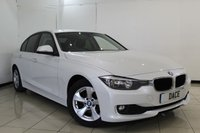 USED 2012 62 BMW 3 SERIES 2.0 320D EFFICIENTDYNAMICS 4DR AUTOMATIC 161 BHP SERVICE HISTORY + CRUISE CONTROL + BLUETOOTH + PARKING SENSOR + MULTI FUNCTION WHEEL + CLIMATE CONTROL + 16 INCH ALLOY WHEELS