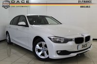 USED 2012 62 BMW 3 SERIES 2.0 320D EFFICIENTDYNAMICS 4DR AUTOMATIC 161 BHP SERVICE HISTORY + 0% FINANCE AVAILABLE T&C'S APPLY + CRUISE CONTROL + BLUETOOTH + PARKING SENSOR + MULTI FUNCTION WHEEL + CLIMATE CONTROL + 16 INCH ALLOY WHEELS