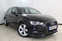 USED 2014 14 AUDI A3 2.0 TDI SPORT 5DR 148 BHP SERVICE HISTORY + BLUETOOTH + AIR CONDITIONING + RADIO/CD + ELECTRIC WINDOWS + ELECTRIC MIRRORS + RADIO/CD + 17 INCH ALLOY WHEELS