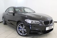 USED 2014 14 BMW 2 SERIES 3.0 M235I 2DR AUTOMATIC 322 BHP BMW SERVICE HISTORY + LEATHER SEATS + SAT NAVIGATION + BLUETOOTH + CRUISE CONTROL + MULTI FUNCTION WHEEL + CLIMATE CONTROL + 18 INCH ALLOY WHEELS