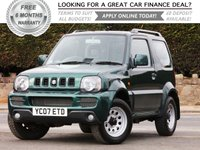 USED 2007 07 SUZUKI JIMNY 1.3 JLX 3d 83 BHP +++ FREE 6 months Autoguard Warranty included in screen price +++
