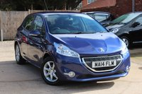 USED 2014 14 PEUGEOT 208 1.2 ACTIVE 5d 82 BHP **** £20 ROAD TAX * BLUETOOTH * AIR CON * CRUISE CONTROL ****