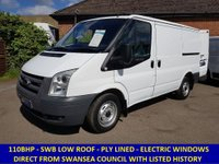 2008 FORD TRANSIT 110BHP 260 SWB FROM SWANSEA COUNCIL WITH HISTORY £4695.00
