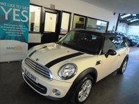 USED 2012 12 MINI CLUBMAN 1.6 COOPER 5d 122 BHP This Mini Clubman Chilli pack is finished in Pepper white with Black leather & cloth seats. It is fitted with power steering, remote locking, Bluetooth phone, DAB USB Aux port, Alloys, park assist, Chrome pack, electric windows and mirrors, climate control, start stop technology, cruise control and much more. The current Mot runs till 26th January 2019 we will supply it with a service & a six month (extendable) warranty. Finance is available along with extended and upgraded warranties.