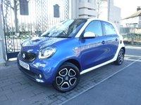 2015 SMART FORFOUR 1.0 PRIME PREMIUM PLUS 5d AUTO 71 BHP £9295.00