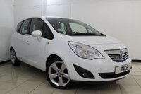 USED 2013 63 VAUXHALL MERIVA 1.4 TECH LINE 5DR 99 BHP HALF LEATHER SEATS + SAT NAVIGATION + BLUETOOTH + CRUISE CONTROL + PARKING SENSOR + MULTI FUNCTION WHEEL + RADIO/CD + 17 INCH ALLOY WHEELS