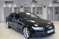 USED 2015 15 AUDI A6 2.0 TDI ULTRA S LINE BLACK EDITION 4d 188 BHP FULL LEATHER SEATS + AUDI SERVICE HISTORY + SAT NAV + £30 ROAD TAX + BLUETOOTH + 20 INCH ALLOYS + HEATED FRONT SEATS + DAB RADIO + PARKING SENSORS + CRUISE CONTROL + HILL START ASSIST