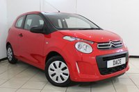 USED 2015 15 CITROEN C1 1.0 TOUCH 3DR 68 BHP SERVICE HISTORY + AIR CONDITIONING + RADIO/CD + ELECTRIC WINDOWS + AUXILIARY PORT