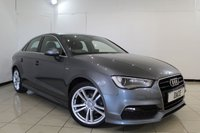 USED 2014 14 AUDI A3 2.0 TDI S LINE 4DR 148 BHP AUDI SERVICE HISTORY + HALF LEATHER SEATS + SA NAVIGATION + BLUETOOTH + MULTI FUNCTION WHEEL + CLIMATE CONTROL + 18 INCH ALLOY WHEELS