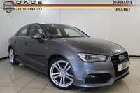 USED 2014 14 AUDI A3 S LINE 2.0 TDI 4DR 148 BHP AUDI SERVICE HISTORY + 0% FINANCE AVAILABLE T&C'S APPLY + HALF LEATHER SEATS + SA NAVIGATION + BLUETOOTH + MULTI FUNCTION WHEEL + CLIMATE CONTROL + 18 INCH ALLOY WHEELS