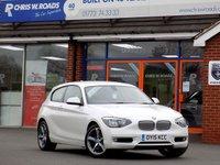 USED 2015 15 BMW 1 SERIES 2.0 116D URBAN 3dr  * Mineral White & Sat Nav *