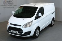 USED 2017 17 FORD TRANSIT CUSTOM 2.0 270 LIMITED 129 BHP L1 H1 SWB LOW ROOF A/C E6 LOW MILEAGE, EURO 6 ENGINE, MANUFACTURE WARRANTY UNTIL 29/02/2020