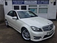 USED 2013 13 MERCEDES-BENZ C CLASS 2.1 C250 CDI BLUEEFFICIENCY AMG SPORT 4d AUTO 26K 1 OWNER *PEARLESCENT WHITE* HIGH SPEC MODEL* EXCELLENT CONDITION
