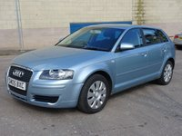 USED 2005 05 AUDI A3 1.6 FSI 5d 114 BHP 1 PREVIOUS KEEPER +  PARKING SENSORS +   SERVICE RECORD (7 STAMPS) +  FULL YEAR MOT ++