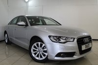 USED 2011 61 AUDI A6 2.0 TDI SE 4DR 175 BHP SERVICE HISTORY + HEATED LEATHER SEATS + SAT NAVIGATION + PARKING SENSOR + BLUETOOTH + CRUISE CONTROL + MULTI FUNCTION WHEEL + CLIMATE CONTROL + 17 INCH ALLOY WHEELS