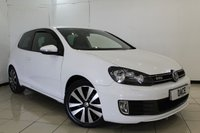 USED 2012 12 VOLKSWAGEN GOLF 2.0 GTD TDI 3DR 170 BHP SERVICE HISTORY + HEATED LEATHER SEATS + BLUETOOTH + MULTI FUNCTION WHEEL + CLIMATE CONTROL + 17 INCH ALLOY WHEELS