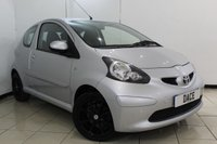 USED 2007 07 TOYOTA AYGO 1.0 VVT-I PLUS 3DR 67 BHP FULL SERVICE HISTORY + AIR CONDITIONING + RADIO/CD + AUXILIARY PORT + ELECTRIC WINDOWS + 15 INCH ALLOY WHEELS