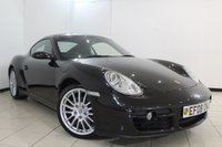 USED 2008 08 PORSCHE CAYMAN 2.7 24V 2DR 242 BHP SERVICE HISTORY + HEATED LEATHER SEATS + PARKING SENSOR + CLIMATE CONTROL + RADIO/CD + 19 INCH ALLOY WHEELS