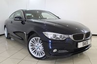 USED 2014 14 BMW 4 SERIES 2.0 420D XDRIVE LUXURY 2DR 181 BHP BMW SERVICE HISTORY + HEATED LEATHER SEATS + SAT NAVIGATION PROFESSIONAL + PARKING SENSOR + BLUETOOTH + CRUISE CONTROL + CLIMATE CONTROL + 18 INCH ALLOY WHEELS