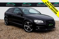 USED 2011 11 AUDI A3 2.0 TDI S LINE SPECIAL EDITION 3d 138 BHP £0 DEPOSIT FINANCE AVAILABLE, AIR CONDITIONING, BOSE SOUND SYSTEM, CLIMATE CONTROL, FULL S LINE LEATHER UPHOLSTERY, REAR PRIVACY GLASS, STEERING WHEEL CONTROLS