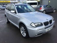 USED 2007 57 BMW X3 2.0 D M SPORT 5 DOOR 148 BHP IN SILVER WITH ONLY 54400 MILES  APPROVED CARS ARE PLEASED TO OFFER THIS  BMW X3 2.0 D M SPORT 5 DOOR 148 BHP IN SILVER WITH ONLY 54400 MILES IN SILVER WITH A FULL BLACK LEATHER INTERIOR,THIS CARS IN STUNNING CONDITION INSIDE AND OUT WITH A DOCUMENTED SERVICE HISTORY A GREAT 4X4 BMW M SPORT.