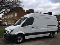USED 2015 15 MERCEDES-BENZ SPRINTER 2.1 313CDI MWB HIGH ROOF 130BHP NEW SHAPE. FSH. 1 OWNER  NO DEPOSIT FINANCE. PX WELCOME