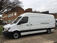 USED 2015 15 MERCEDES-BENZ SPRINTER 2.1 313CDI LWB HIGH ROOF 130BHP NEW SHAPE. 1 OWNER. FSH. NO DEPOSIT FINANCE. PX WELCOME