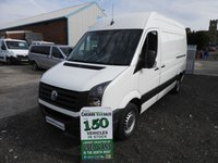 2014 VOLKSWAGEN CRAFTER 2.0 CR35 TDI MWB HI ROOF FSH 109 BHP NO VAT TO PAY !!!!!!!!!!!!!!!!!!!!!!!!!!!!!! £9495.00